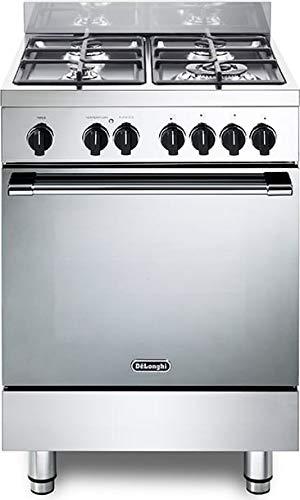 Cocina de gas con horno eléctrico, N° 4 fuegos, 60 x 60 cm, color inoxidable, línea Gemma Gemma 66 M2 ED
