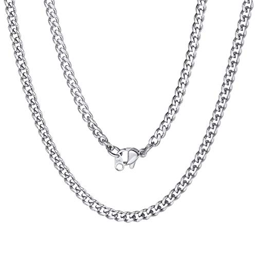 Curb Cuban Link Chain Stainless Steel Necklace Men 22 inch Choker