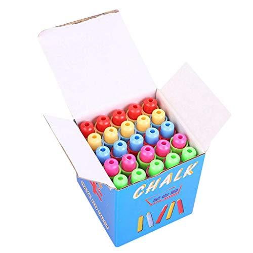 "25pcs Colored Plastic Blackboard Adjustable Chalk Clip Chalk Holder for Teachers Kids School Office Drawing Board,5 color,3.7"" x 0.6"" (Multicolor, 25PC)"