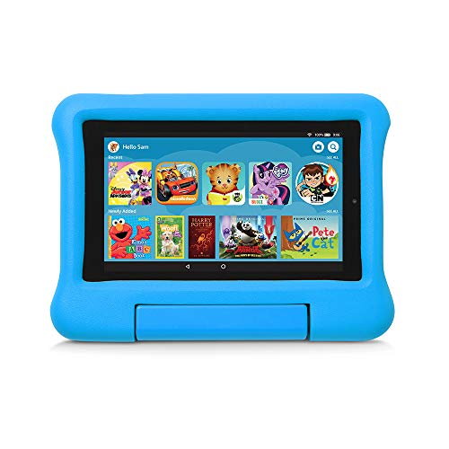 Kid-Proof Case for Fire 7 Tablet (Compatible with 9th Generation Tablet, 2019 Release), Blue