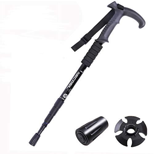 hikehobby® Teleskopischer Gehstock, Antishock-Gehstock, verstellbar, dehnbar von ca. 50 cm bis 110 cm.