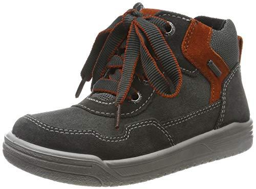 Superfit Jungen EARTH-509058 Hohe Sneaker, Grau (Grau/Rot 20), 27 EU