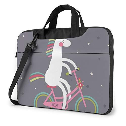 Borsa a tracolla per computer portatile - Unicorn bicicletta stampata antiurto impermeabile borsa a tracolla zaino borsa borsa borsa borsa borsa borsa borsa borsa, Nero (Nero) - 259841-Black-136