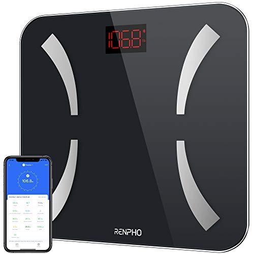 Bilancia Smart RENPHO con Bluetooth, Bilancia Digitale BMI e Misura del Grasso Corporeo, Bilancia per misurare Composizione Corporea, Pesapersone, Bilancia con App per Smartphone