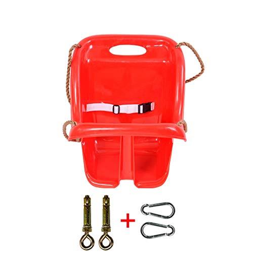 Siège d'enfant pour balançoire à Dossier Haut, Chaise en Plastique sécuritaire et Durable pour bébé, balançoire pour Aire de Jeux extérieure, (Rouge/Bleu) (Color : Red-B)