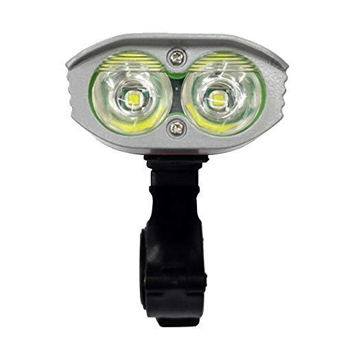 N\A Frente de la Bicicleta de luz Faros Granos de la lámpara T6 Doble Ultra Luminoso de Bicicletas Faros Ajustable Modo, Impermeable al Aire Libre, con Dos potentes imanes
