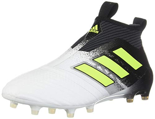 adidas Men's ACE 17+ Purecontrol Firm Ground Boots Soccer, Footwear White/Solar Yellow/Core Black, 9 M US