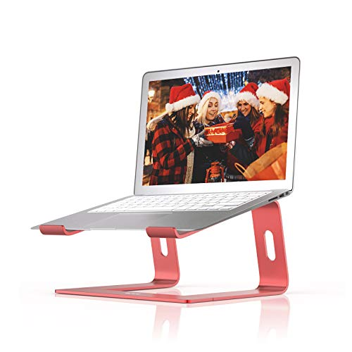 BoYata Laptop Stand, Aluminum Portable Ventilated Laptop Holder, Notebook Stand Compatible with 10-15.9'' MacBook Pro/Air, HP, Dell, Lenovo, Samsung, Acer, Huawei MateBook