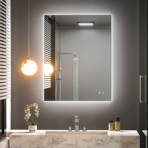Keonjinn 36 x 28 Inch LED Bathroom Mirror Backlit...