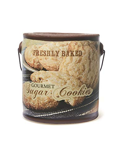 A Cheerful Giver - Gourmet Sugar Cookie Scented Jar Candle (20 oz) Decorative Ceramic Jar Candle with True to Life Fragrance Made in USA
