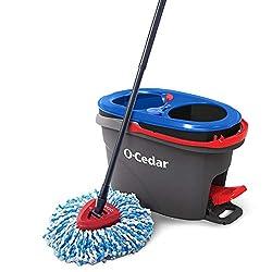O-Cedar EasyWring RinseClean Microfiber Spin Mop, Grey