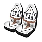Pinbeam Car Seat Covers Star Texas State Tee Longhorn Skull Graphics Stamp Label Set of 2 Auto Accessories Protectors Car Decor Universal Fit for Car Truck SUV