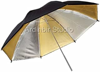 Ardinbir Photography 60 150cm Dual-Duty White /& Silver Revesible Light Reflector Umbrella