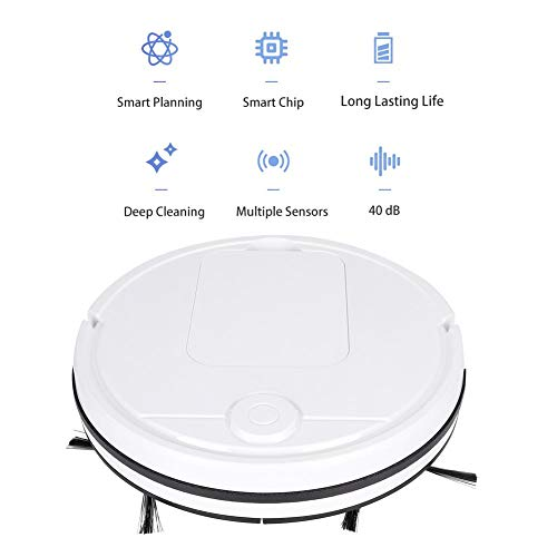 New Robot Vacuum Cleaner, Touch Sensitive Intelligent Floor Sweeping Robot USB Rechargeable Vacuum C...