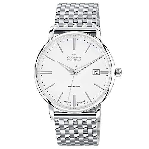 Dugena Herren Automatik-Armbanduhr, Saphirglas, Uhrwerk mit 24 Steinen, Festa Klassik, Silber, 7090190
