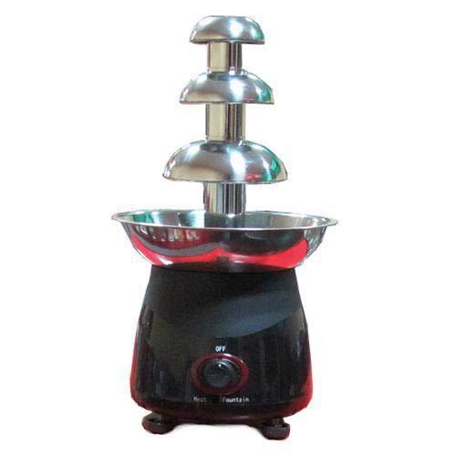 Fondue-fontein met chocoladefondue, automatisch, 4 lagen, 29,5 inch, capaciteit: computer, constante temperatuur Zwart