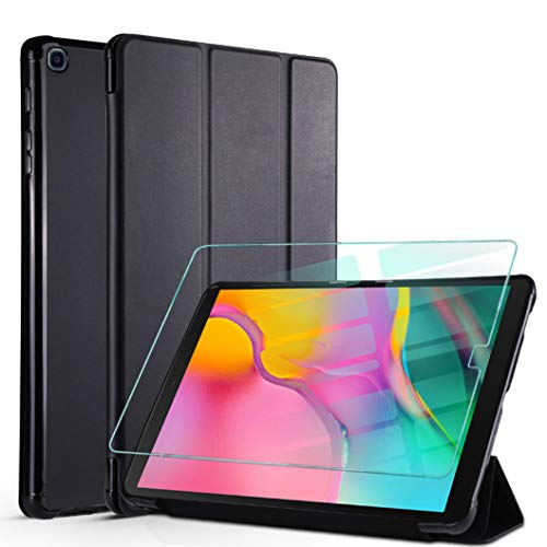 cover tablet a 10.1 Oududianzi - Smart Cover per Samsung Galaxy Tab A 10.1 2019 + Vetro Temperato