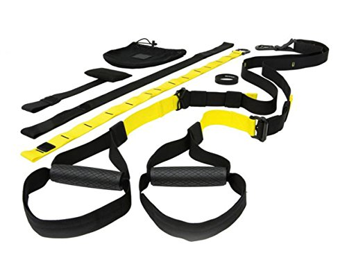WELCARE All in one Suspension Trainer W1351, Body Weight Resistance System, Full Body Workout for Home, Travel and Outdoor, Build Muscle, Burn Fat, Improve Cardio