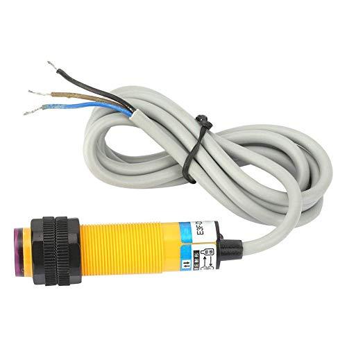 Sensor de proximidad fotoeléctrico, interruptor de proximidad de detección DC12-24V, contacto normalmente abierto NPN de 3 hilos, distancia de detección 10 mm ± 10%