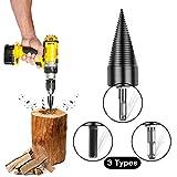 Foret de fendage du bois Foret de disjoncteur de bois, foret haute vitesse robuste, perceuse de cône de bois de fendage efficace, vis de fendeuse de bois de feu vis de fendage outil de brise-bois cône