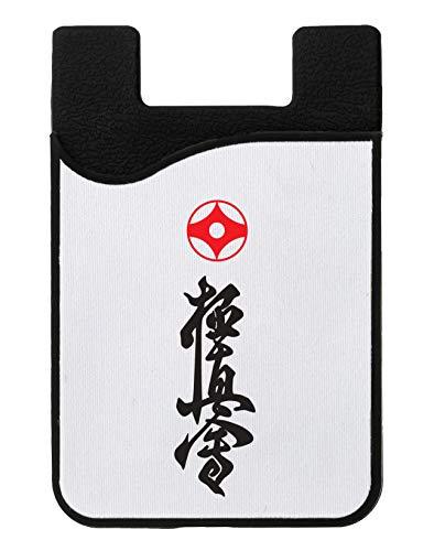 Karate Logo Symbol Kreditkarteninhaber für Telefon Credit Card Holder Wallet for Smartphone Mobile
