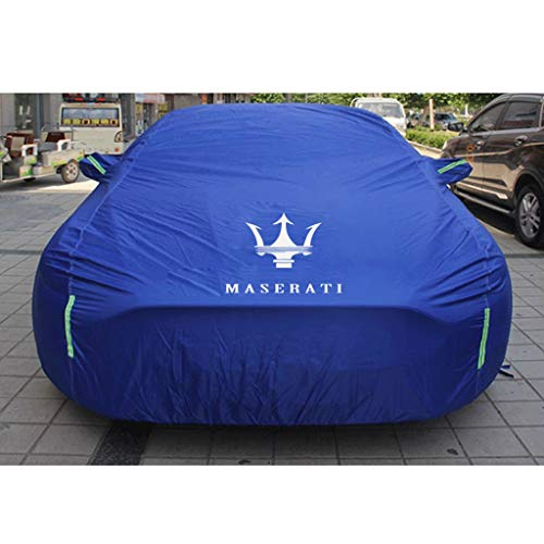 Car Cover Adatto per Lajin Flame Retardant Maserati President Geberit Levante Abbigliamento Solare (Colore : Blu, Dimensioni : Levante)