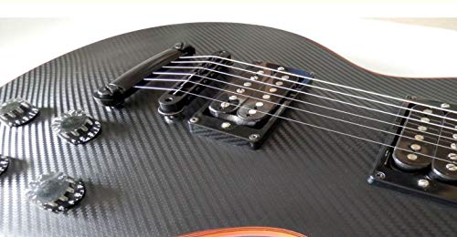 Sticker Vinyl Carbon Fiber Body Guitar & Bass Aufkleber Vinyl Carbonfaser Gitarre Les Paul