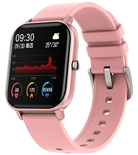 Fitness Uhr Damen Rosegold Fitnessuhr Sportuhr Schrittzähler Pulsuhren Aktivitätstracker mit Blutdruckmessung Pulsmesser Kalorienzähler Android Smartwatch IOS Tracker Watch Frauen Armbanduhr
