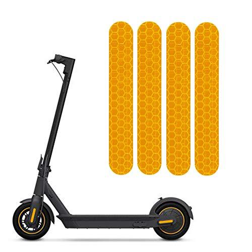 TOMALL Pegatinas Reflectantes de Noche Autoadhesivas Tira de Advertencia Impermeable Compatible con Accesorios de decoración de Scooter eléctrico MAX G30