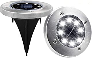 SOLAR GROUND LIGHT 8 LED LIGHT SOLAR PATHWAY GARDEN DECORATION LIGHT LANDSCAPE 4PCS/SET