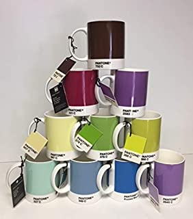 Whitbread Wilkinson Pantone China Mugs Assorted Mixed Set Of 10