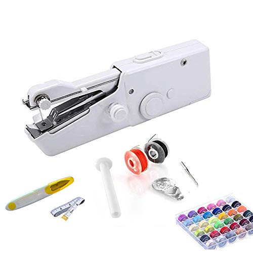 New Sewing Machines Portable Mini Sewing Machine Handheld Stitch Sew Needlework Cordless Tools Elect...