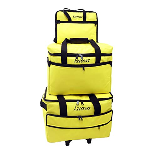 Luova 19' 3 Piece Rolling Trolley Set in Meadowlark Yellow
