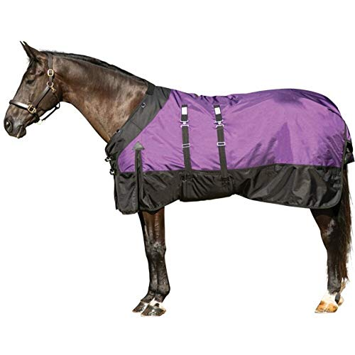 StormShield Contour Collar Euro Fit Extreme Horse Turnout Sheet | Purple - Size 76 | 1680D Waterproof, Windproof & Breathable Outer Cover | Bellyband Closure