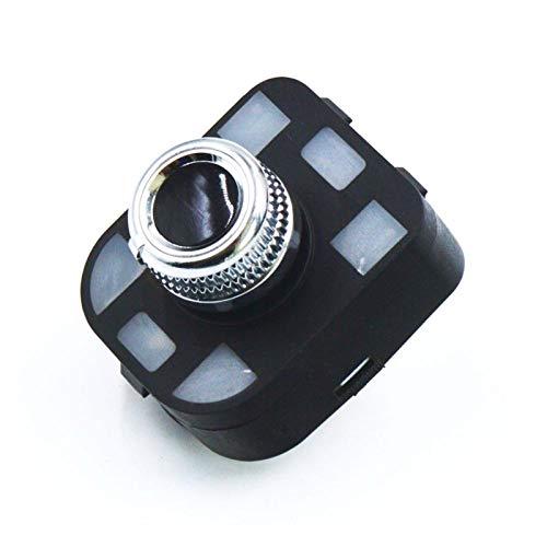 Interruptor de espejo lateral del lateral de ajuste de cromo resistente a los rasguños para Audi A1 A2 A3 A4 S4 A4 Allroad A5 S5 Q5 RS5 RS4 A6 Q7 TT A8 EXEO 8R0959565E 8K0959565C Fácil de instalar
