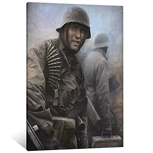 FINDEMO Póster de la Segunda Guerra Mundial, diseño de dominio alemán, 40 x 60 cm