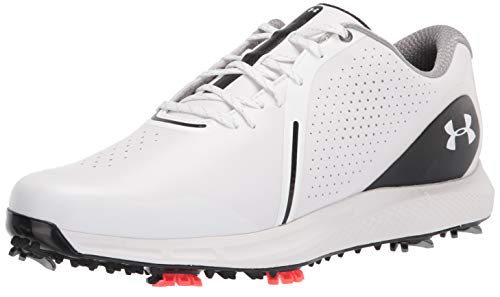 Under Armour mens Charged Draw Rst Golf Shoe, White/Black, 11.5 US