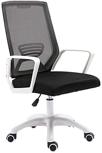 FGVBC Taburete Tiua Silla de Oficina, Asiento cómodo, Silla elevadora hidráulica, Respaldo Simple para Sala de conferencias (Negro, se Puede Pedir a Granel)