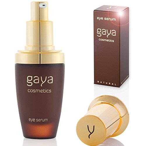 Gaya Cosmetics Anti Aging Augen Serum - Vegan Serum zur Reduzierung von Falten, feinen Linien, Schwellungen & Augenringen mit Hyaluronsäure