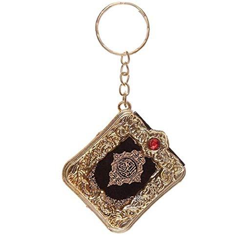 Ark Quran-Buch Koran Anhänger Schlüsselanhänger Muslim Keyring Beutel-Geldbeutel-Auto-dekor Schlüsselkette Für Unisex