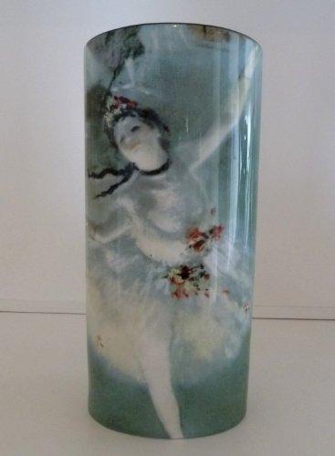 John Beswick dégazer Danseuse Ballet 23.5cms Art Vase céramique Hauteur