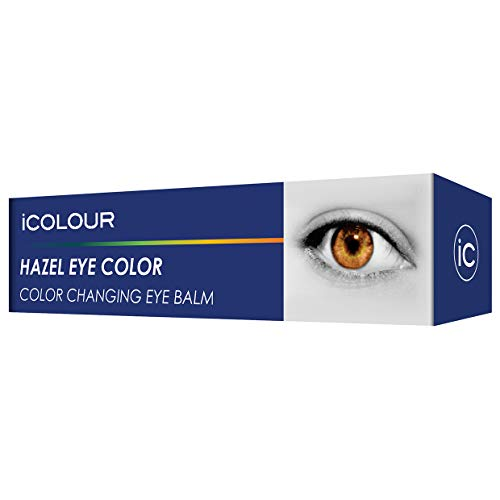 iCOLOUR Color Changing Eye Balm - Change Your Eye Color Naturally - 1 Month Supply - 4.3 g (Hazel)