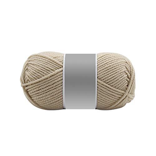 dljztrade Gebreide wolgaren, zacht, duurzaam, pure kleur, kleding, sjaal, hoed, haakjes, deken, handschoenen, pullover geweven doe-het-zelf materiaal KhakiNone