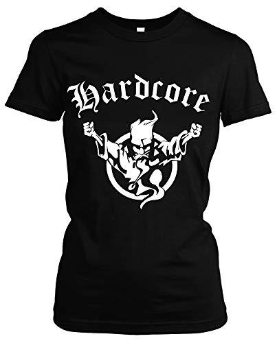 Hardcore Girlie Shirt | Hardcore | Techno | Electro | Hard Trance | Frauen | Damen | Bass | Musik | Tanzen | DJ | M1 (S)