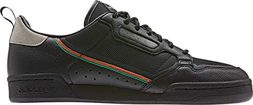 adidas Originals Continental 80, Zapatos para Senderismo para Hombre, Core Black Orange Sesam, 50 EU