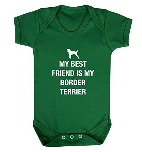 Flox Creative Baby Vest Best Friend Staffordshire Border Terrier - Vert - XS