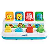 Kidoozie Pop 'n Play Animal Friends, Pop Up Activity Toy for Learning Colors, Numbers, Animal Names and Sounds, for Toddlers Ages 12 Months and Older, Multi