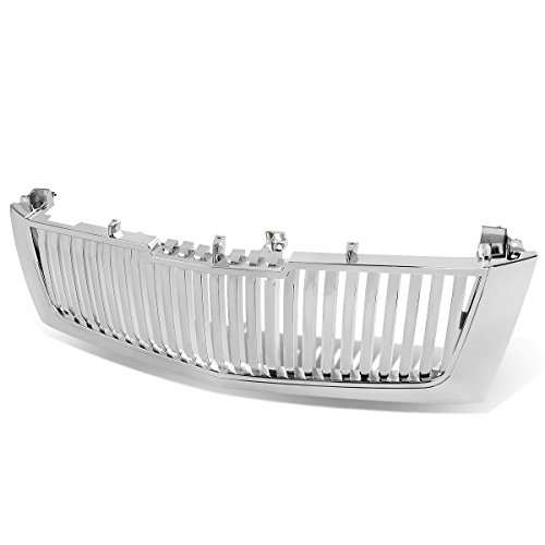 Replacement for Cadillac Escalade ESV EXT ABS Plastic OE Style Vertical Style Front Grille (Chrome) - 2nd Gen GMT800