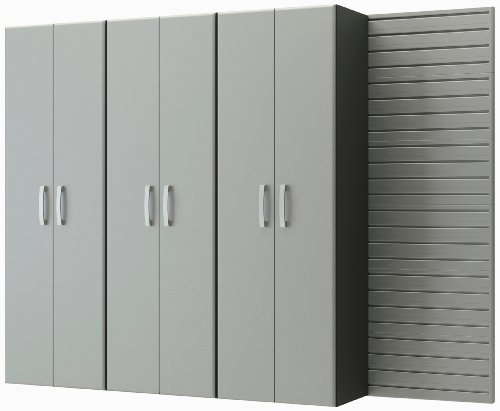 Flow Wall FCS-9612-6S-3S 3 Tall Cabinet Pack for Garage Organization Systems, Silver