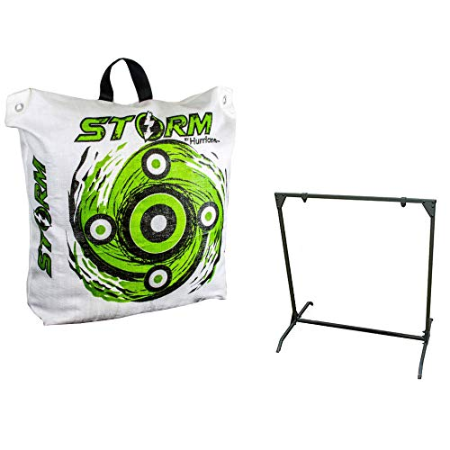 2000 FLUSHES Hurricane H-20 Deer Archery Target w/HME Bowhunting 30 Inch Bag Target Stand